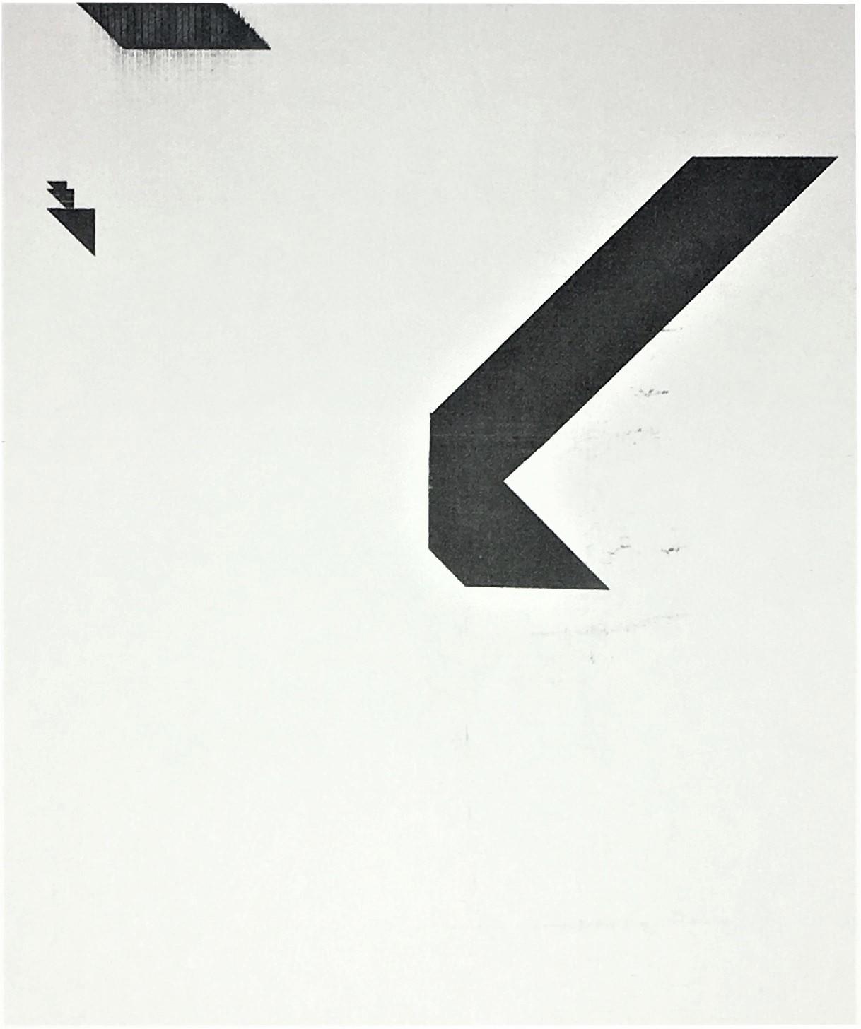 'X' Poster (Untitled, WG1207),  20176 Epson UltraChrome inkjet on linen paper,, 84 × 69 in (213.4 × 175.3 cm)