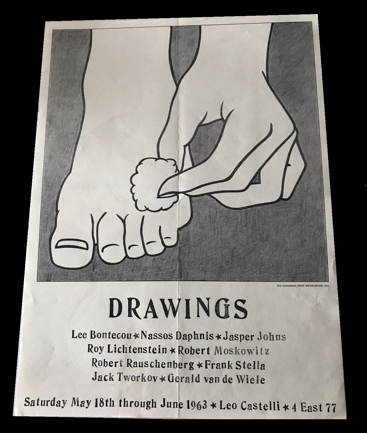 """""""DRAWINGS"""",  1963, Group Exhibition Announcement,/ Mailer/ Poster."""