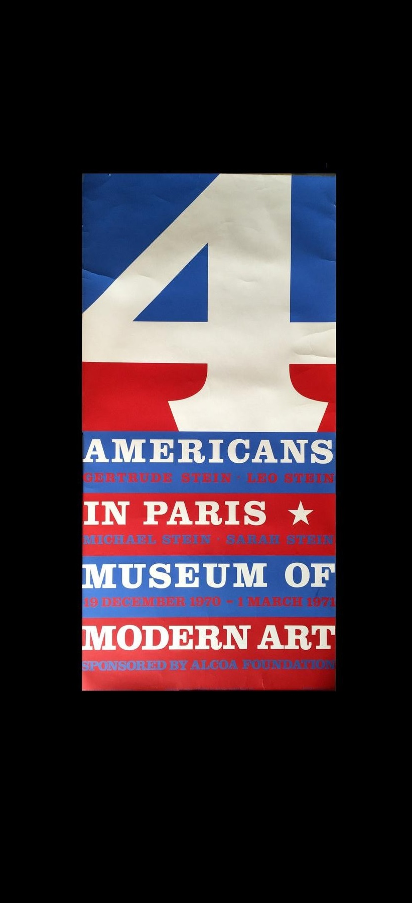 """4 Americans in Paris"", 1 970, Museum of Modern Art, Exhibition Poster."