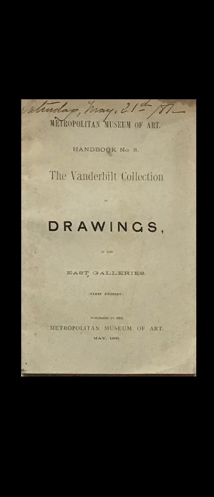 """DRAWINGS"" , 1881, Metropolitan Museum of Art NYC."