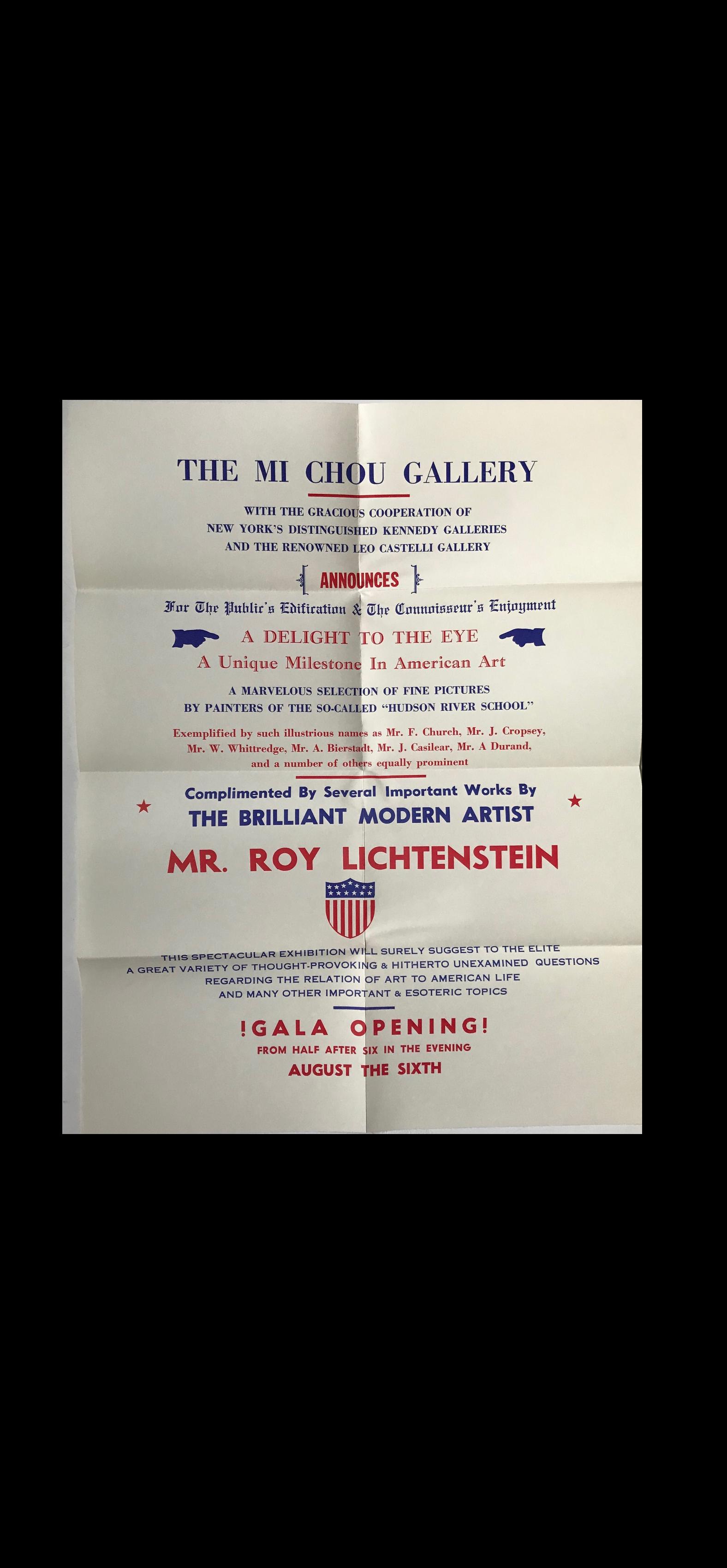 """""""Mr. Roy Lichtenstein"""",  1949, Group Exhibition Mailer"""