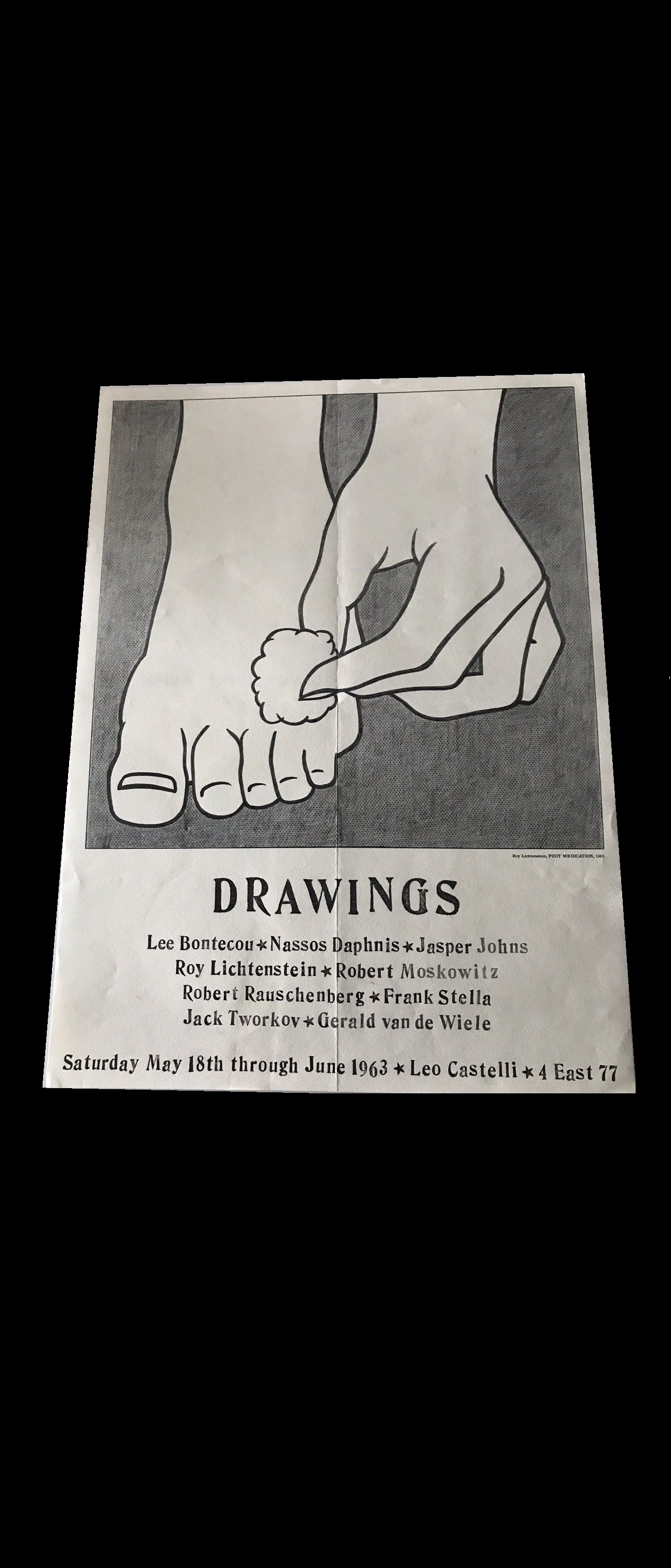 """DRAWINGS"" , 1963, group exhibition announcement// mailer/ poster."