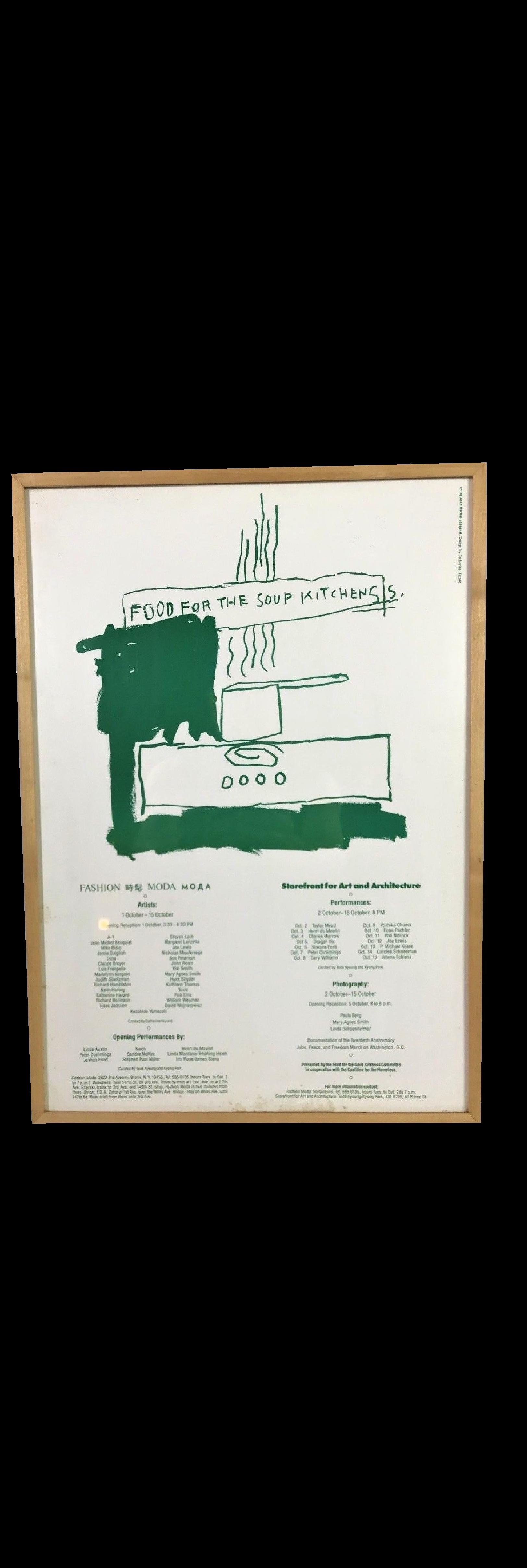 """""""FOOD for the SOUP KITCHENS"""",  1983, BASQUIAT, daze,HARING schneeman, Kiki Smith WOJNAROWICZ"""
