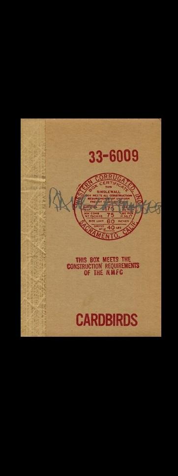 """""""CARDBIRDS"""" , 1971,Gemini G.E.L.,Catalog First Edition."""