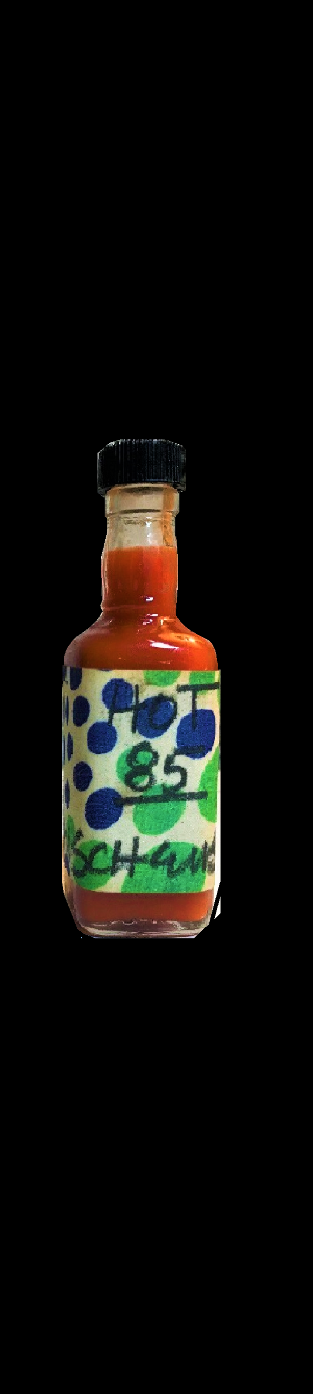 """Hot 85"",  1985, Rauschenberg's Homemade Hot Sauce Bottle, Signed/Dated, UNIQUE"