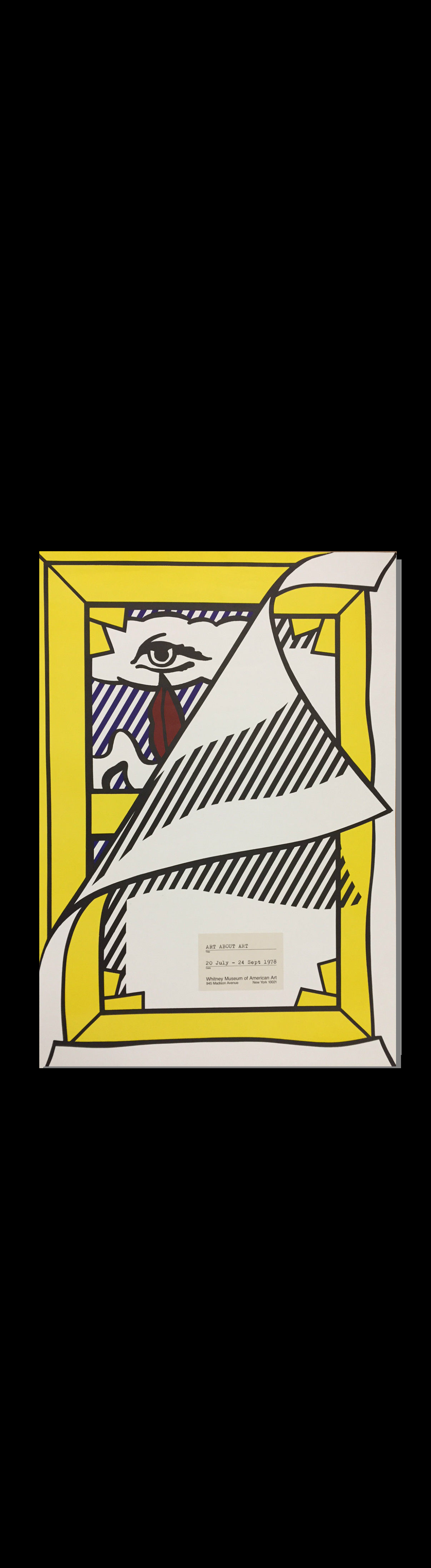 """""""Art About Art"""",  1978, Whitney Museum Exhibition Poster."""