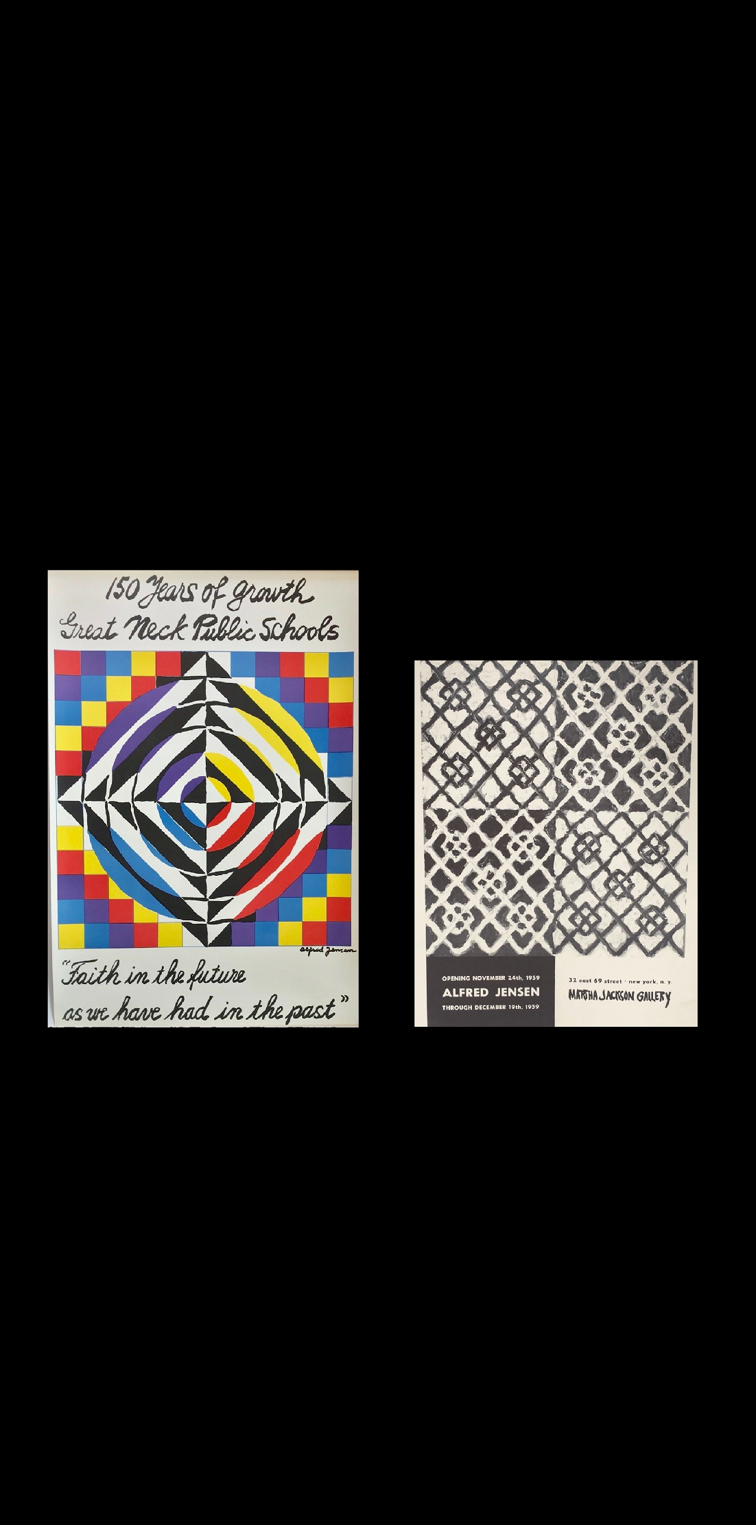 Exhibition Posters-  1959 & 1965, Martha Jackson Gallery NYC.