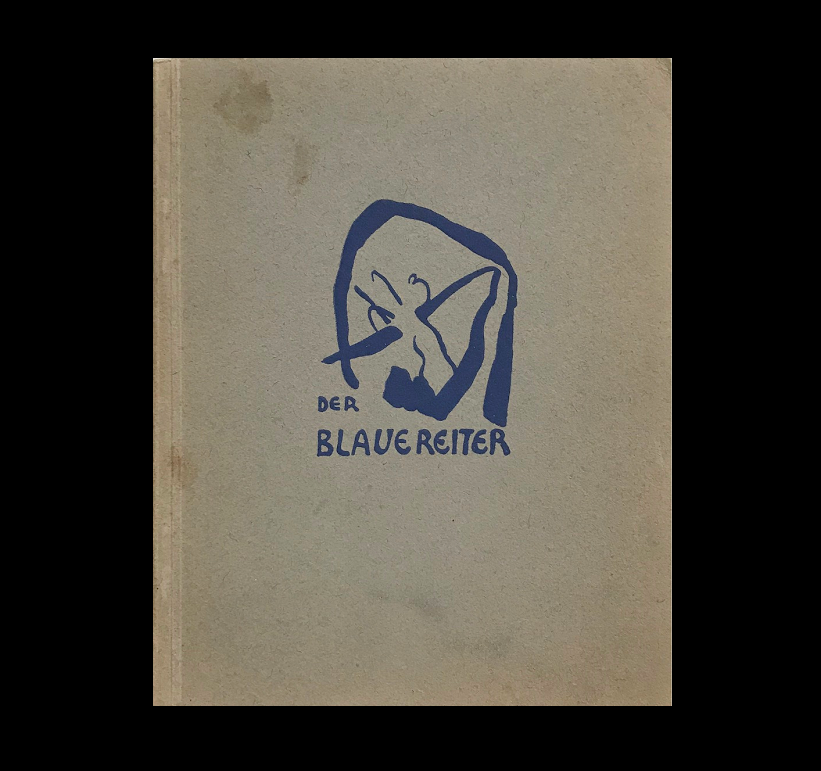 """THE BLUE RIDER""  (Der Blaue Reiter), 1912 Catalogue, Cover by Kandinsky."
