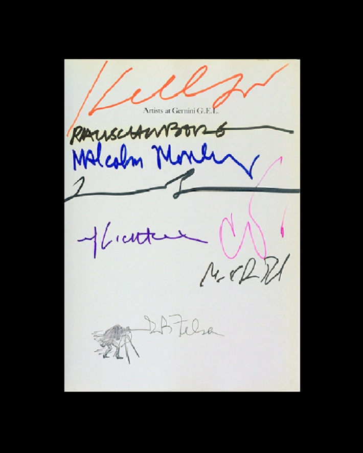 """25 YEARS STUDIO""- GEMINI G.E.L. SIGNED by BOROFSKY, KELLY, LICHTENSTEIN, MORLEY, OLDENBURG, & RAUSCHENBERG"