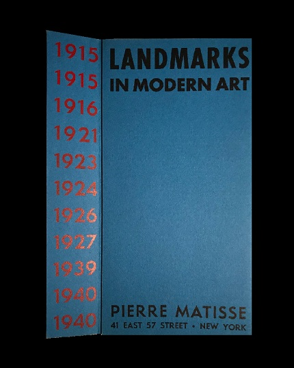 """LANDMARKS IN MODERN ART"", 1940-41, group exhibition announcement, Pierre Matisse Gallery NYC (PICASSO's FIRST SHOWING IN AMERICA)"