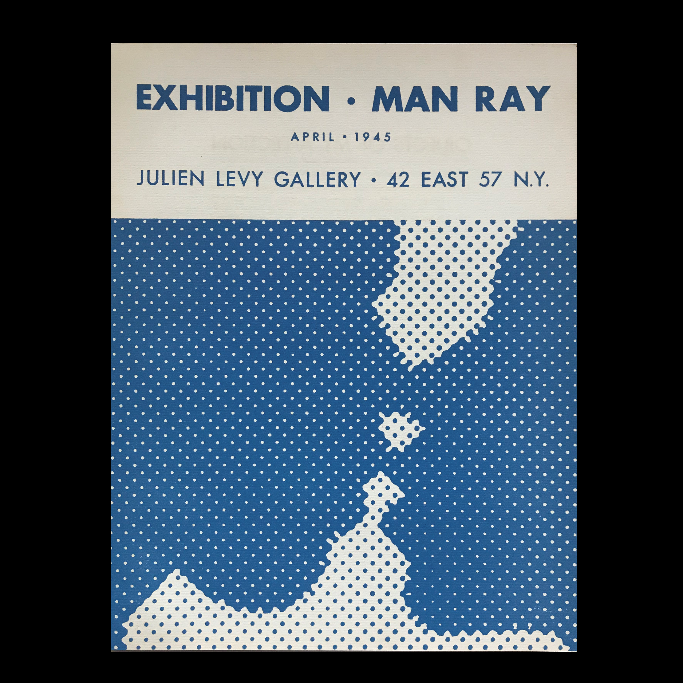 """Exhibition-Man Ray"",  1945, marcel DUCHAMP (cover design) Exhibit Catalog, Julien Levy Gallery NYC"