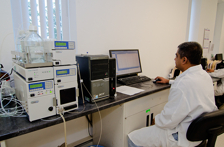 """From Reliance: """"You can observe a Quality team member utilizing advanced HPLC instrumentation to verify the purity and potency of products in our Quality Lab. In addition to our in house lab, we utilize independent labs for the analysis of finished products."""""""