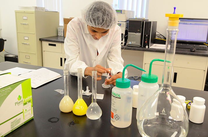 """From Reliance: """"You are looking on as one of our Quality Lab technicians prepares a sample."""""""