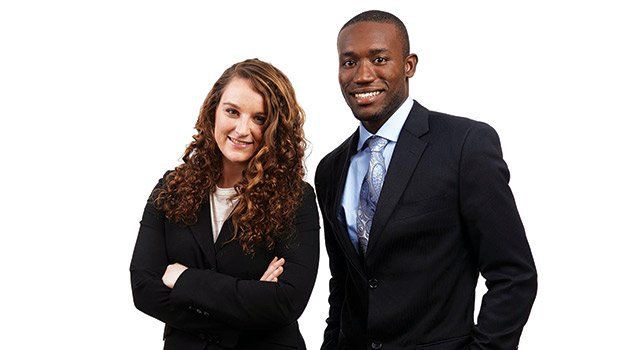 Emily and her business partner Kwami Williams