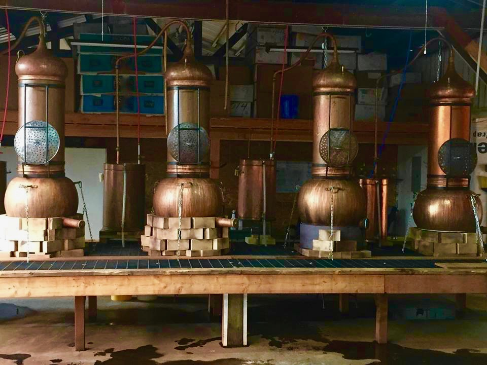 Copper stills used in making the evanhealy Hydrosouls