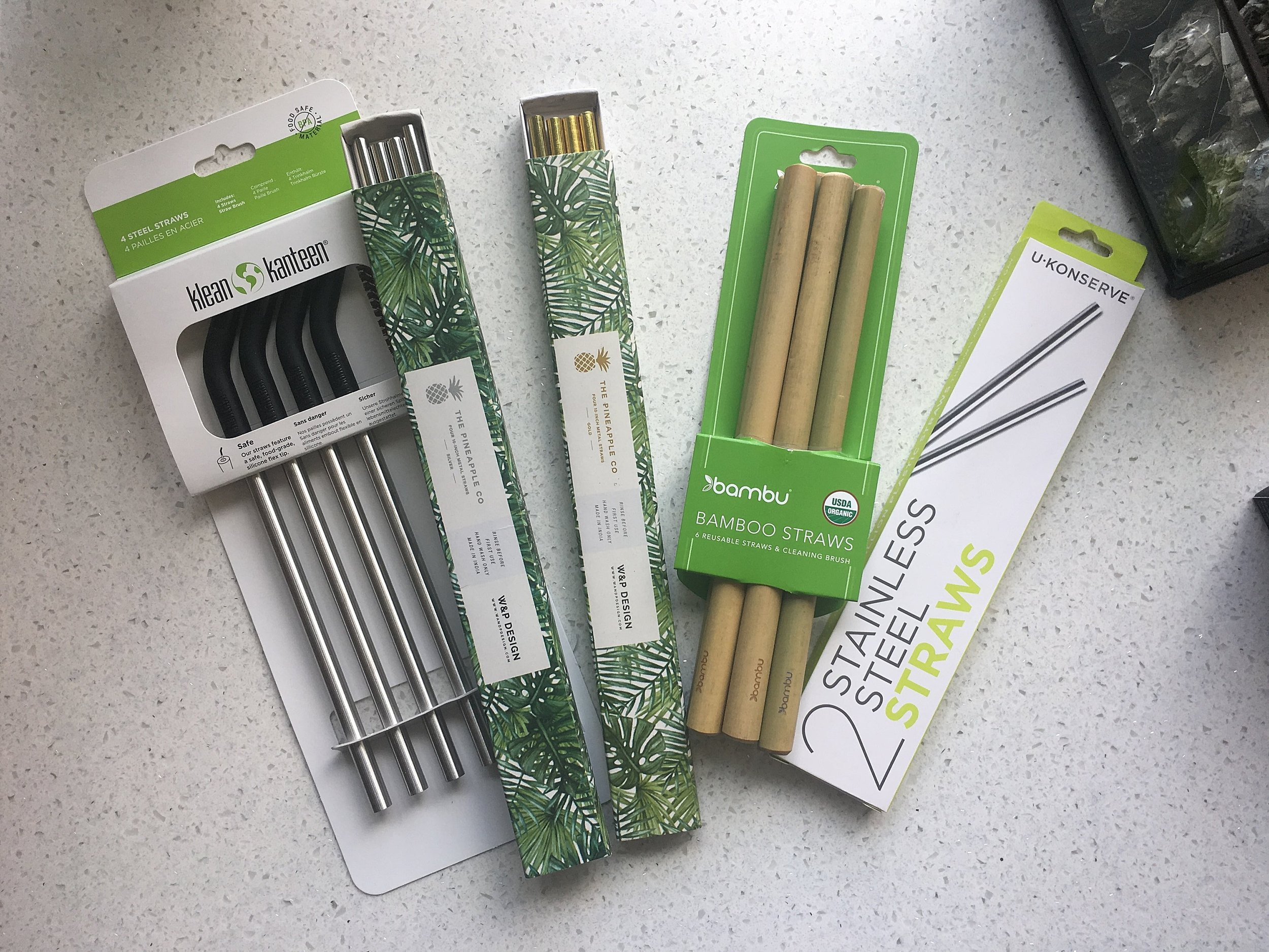 So many fun reusable straw options!