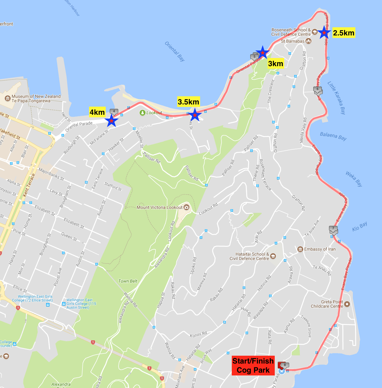 Main Course Map: Click on image to enlarge