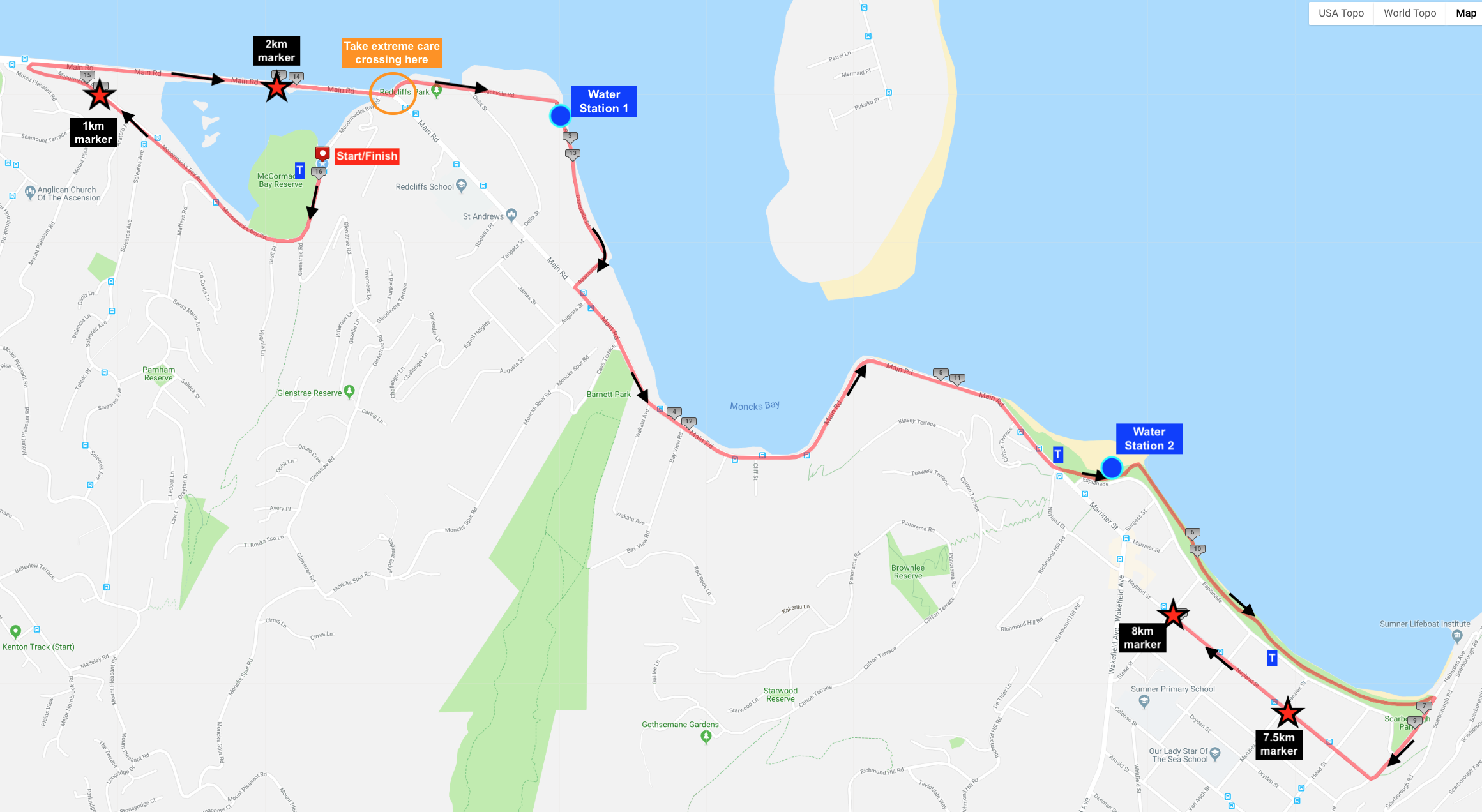 Course Map: Click to Enlarge