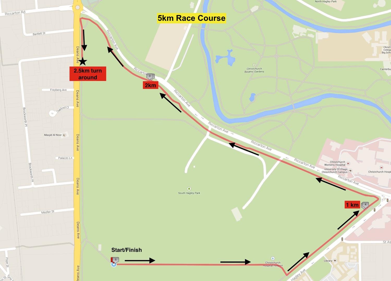 5km Race Course