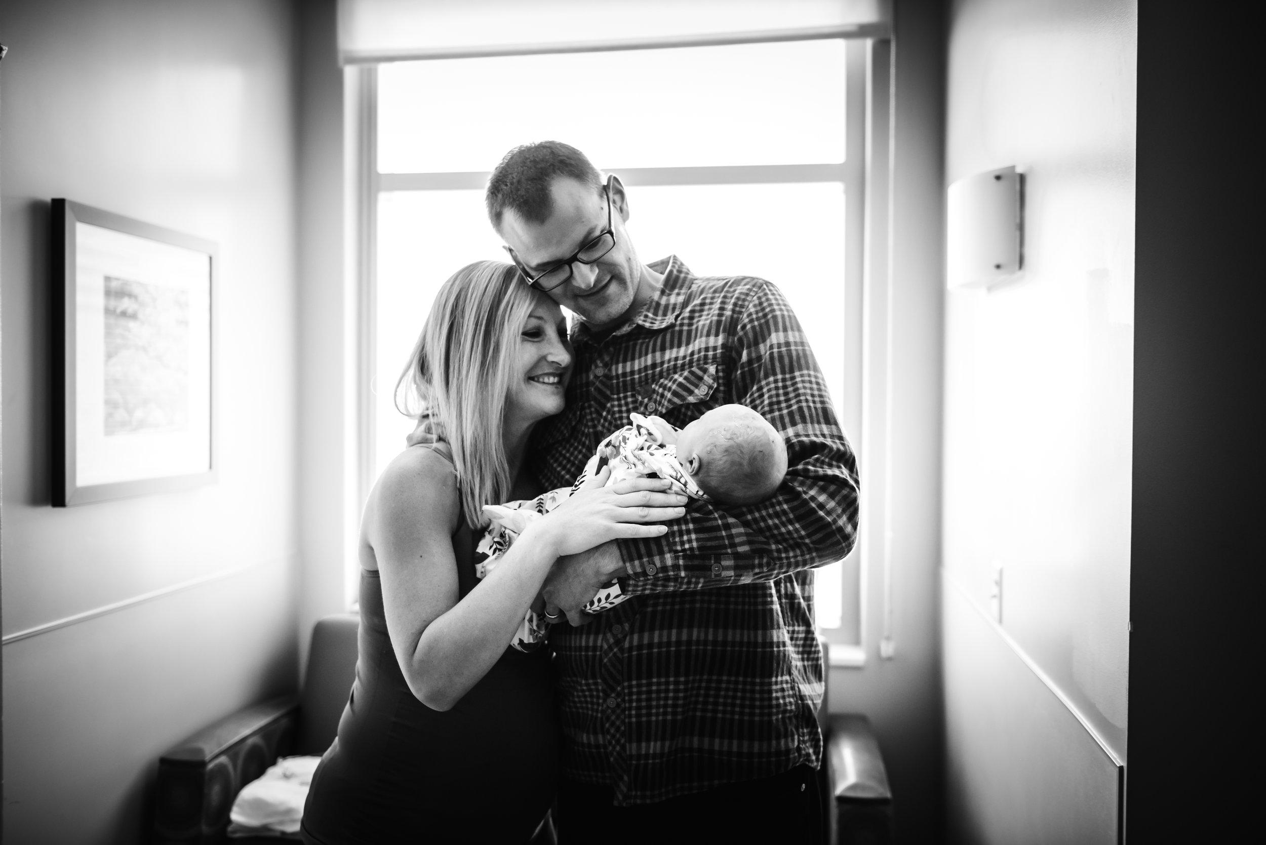 Newborn at St. Joseph Hospital Denver Colorado-Monet Nicole