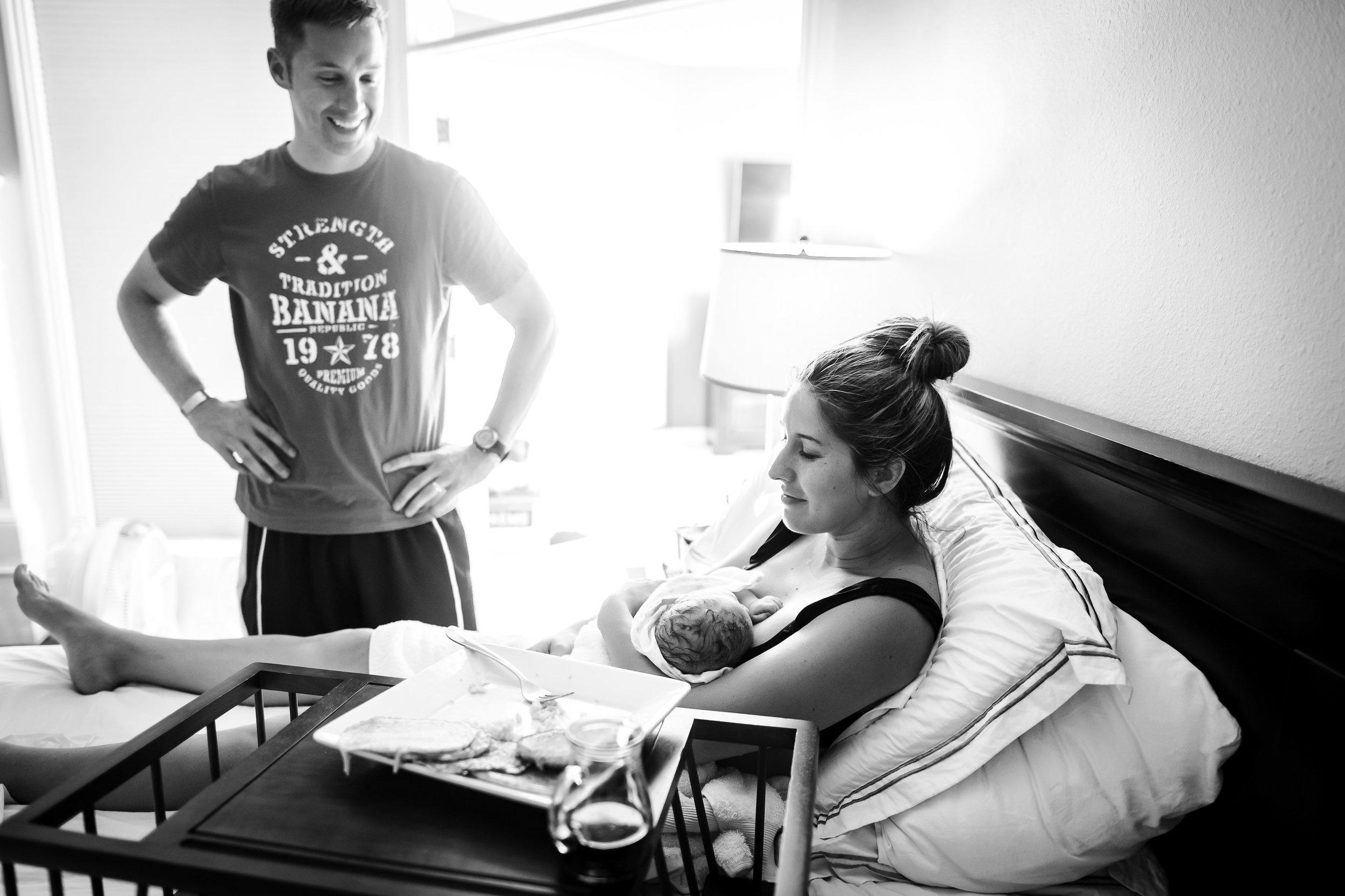 enjoying-breakfast-after-homebirth