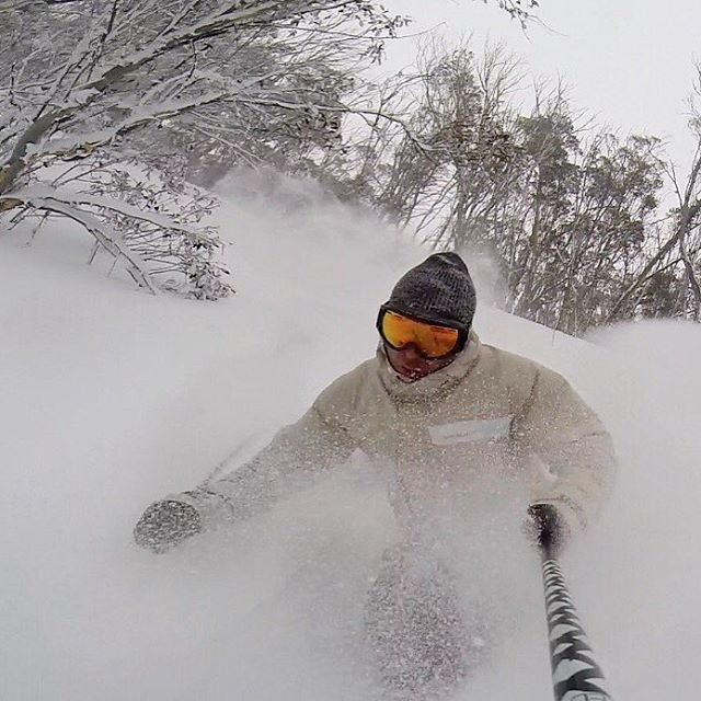 It's been that good lately :) Springtime? Stop it!! #sontimer #goggles #aussiepow #LTD #snowymountains