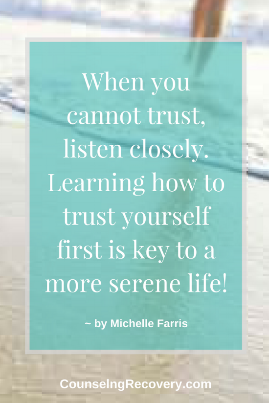 Trusting yourself and cultivating to your intution