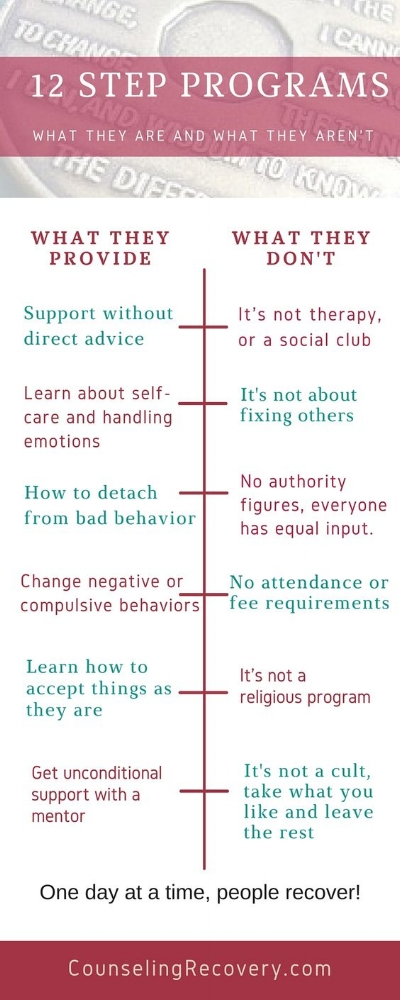 What 12 Step programs are and their myths