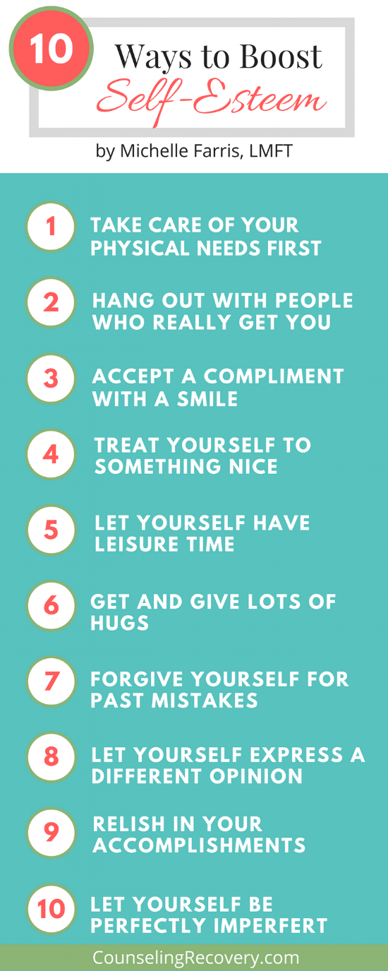 Tips for boosting self-esteem