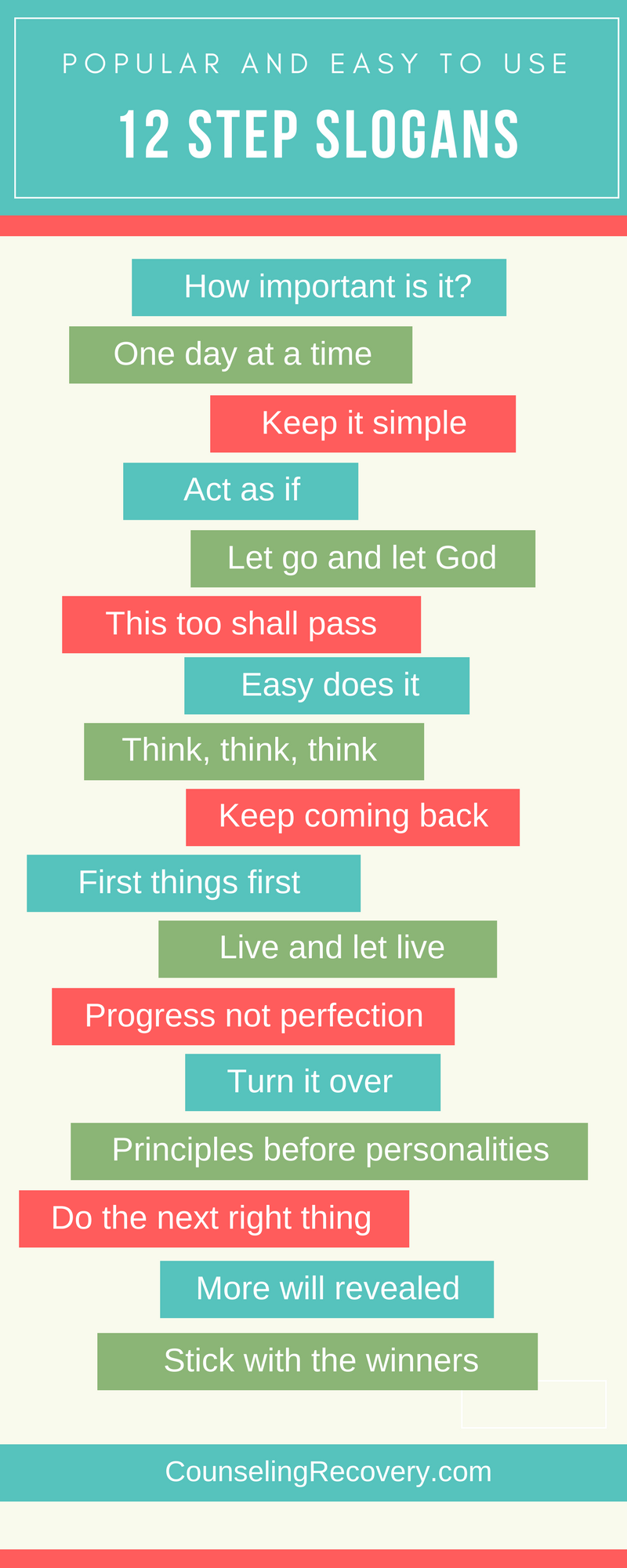 How to Use the 12 Step Slogans