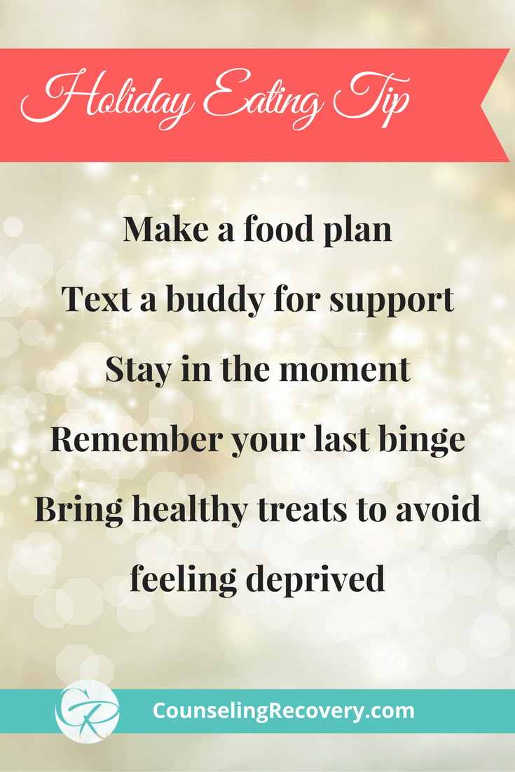 Holiday compulsive overeating tips