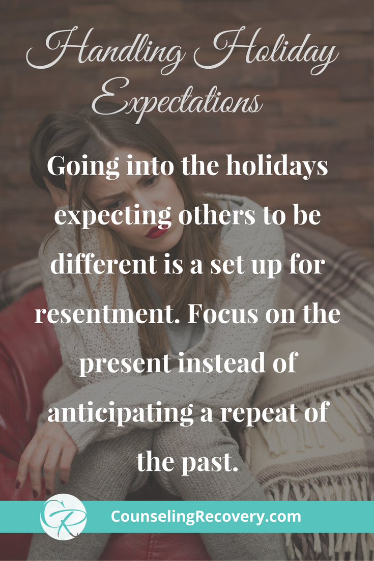 Handling holiday family expectations
