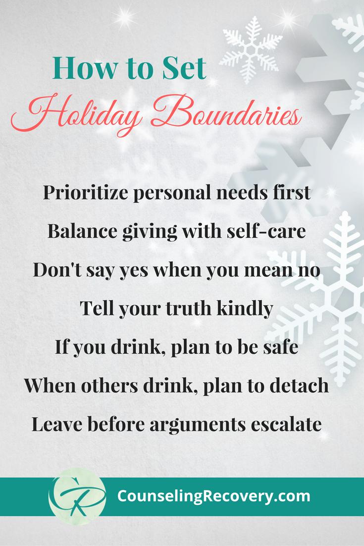 Setting boundaries this holiday