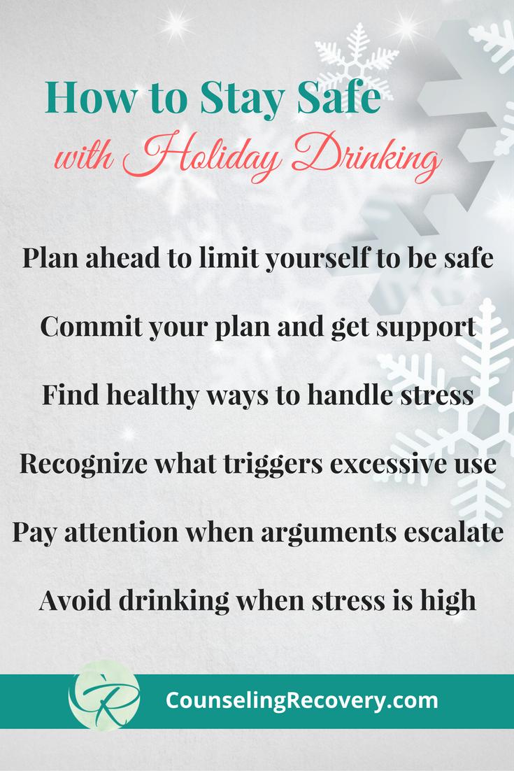 Safe drinking around the holidays