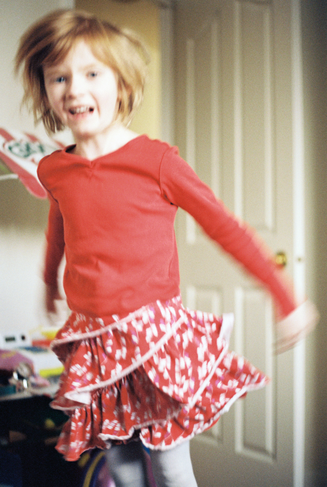 My niece said she always wanted a photo of her jumping.  Kodak Gold 200.
