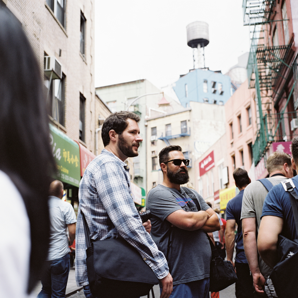 Mr. Johnny Patience (left) & Mr. Cody Priebe (right) displaying excellent beardmanship in Chinatown.