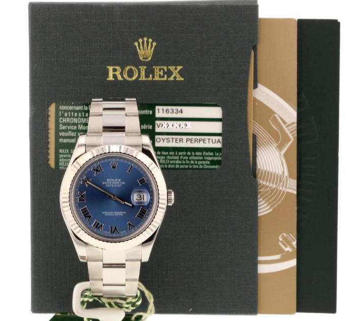 Rolex watch with complete documentation.