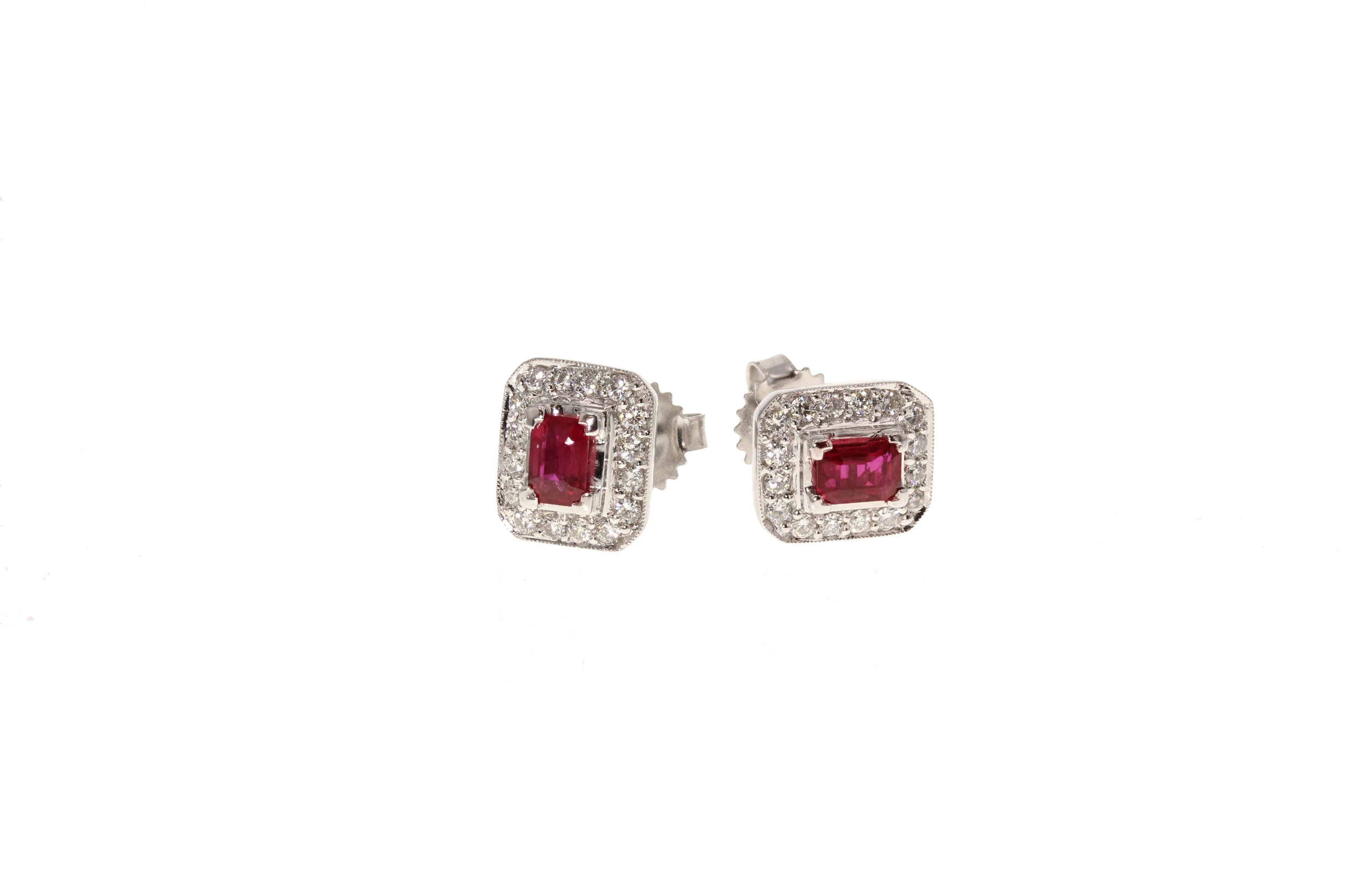 14k w/g Ruby & Diamond earrings. $1295