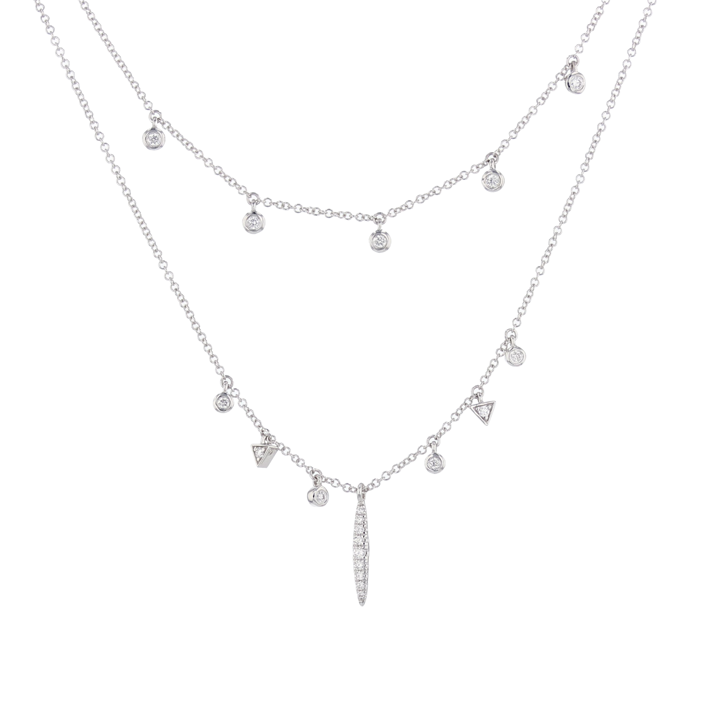 14 w/g Diamond Charm necklace. $1595