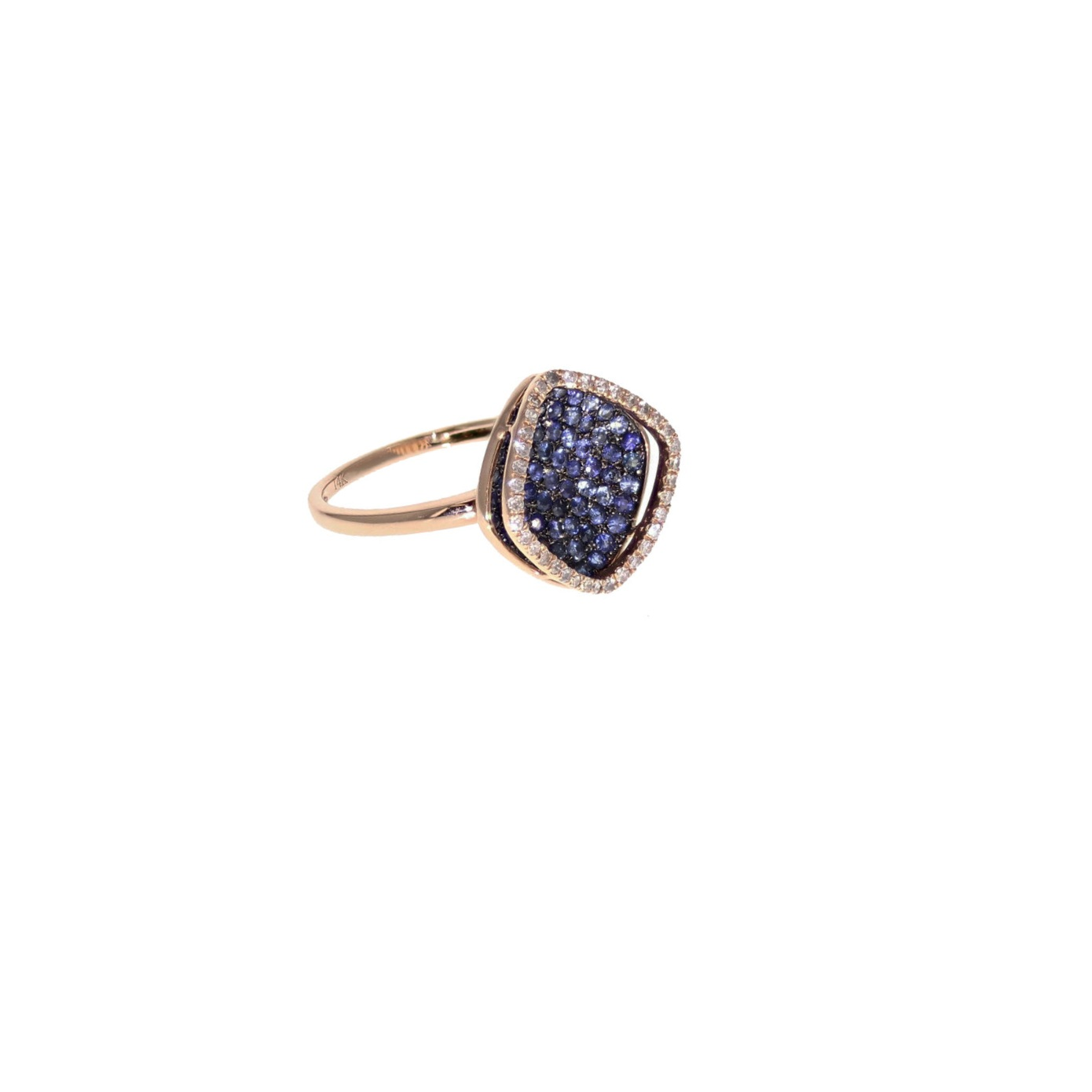 14k r/g Sapphire and Diamond ring. $2810