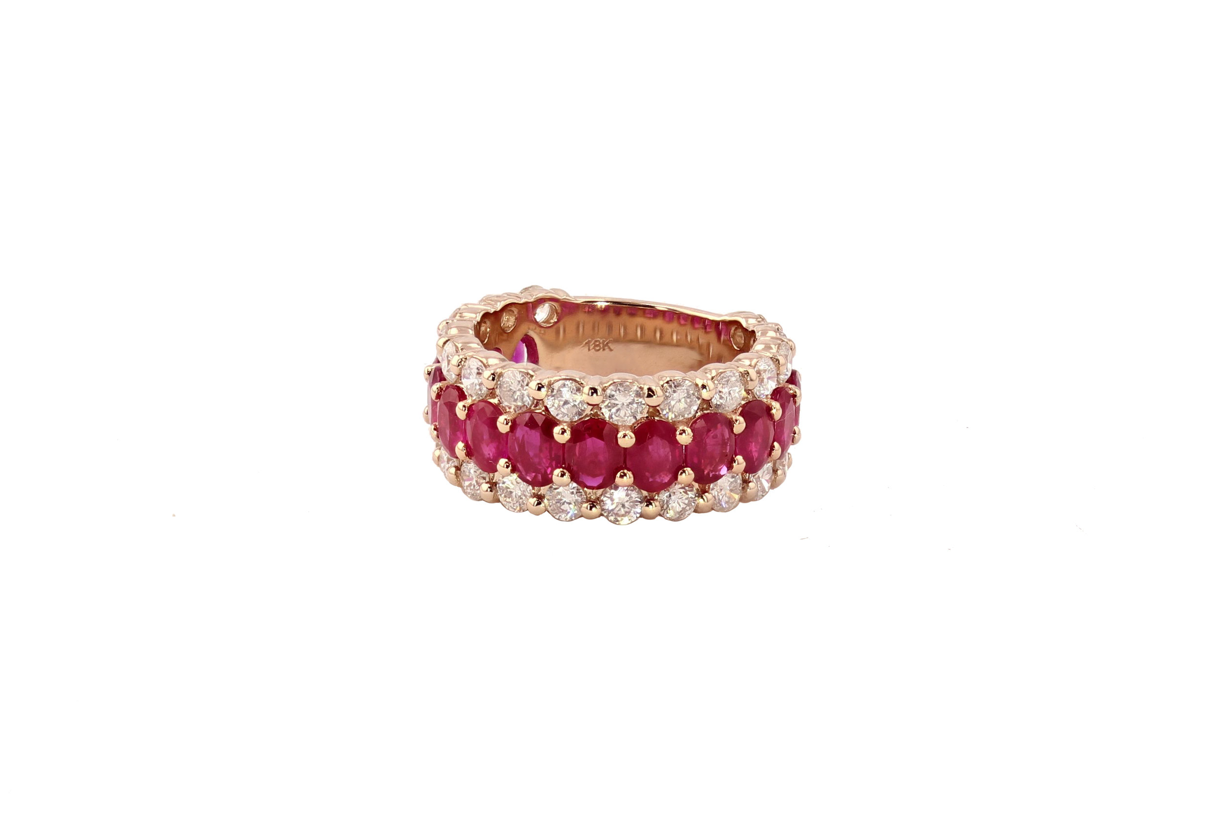 18k r/g Ruby & Diamond ring. $9500