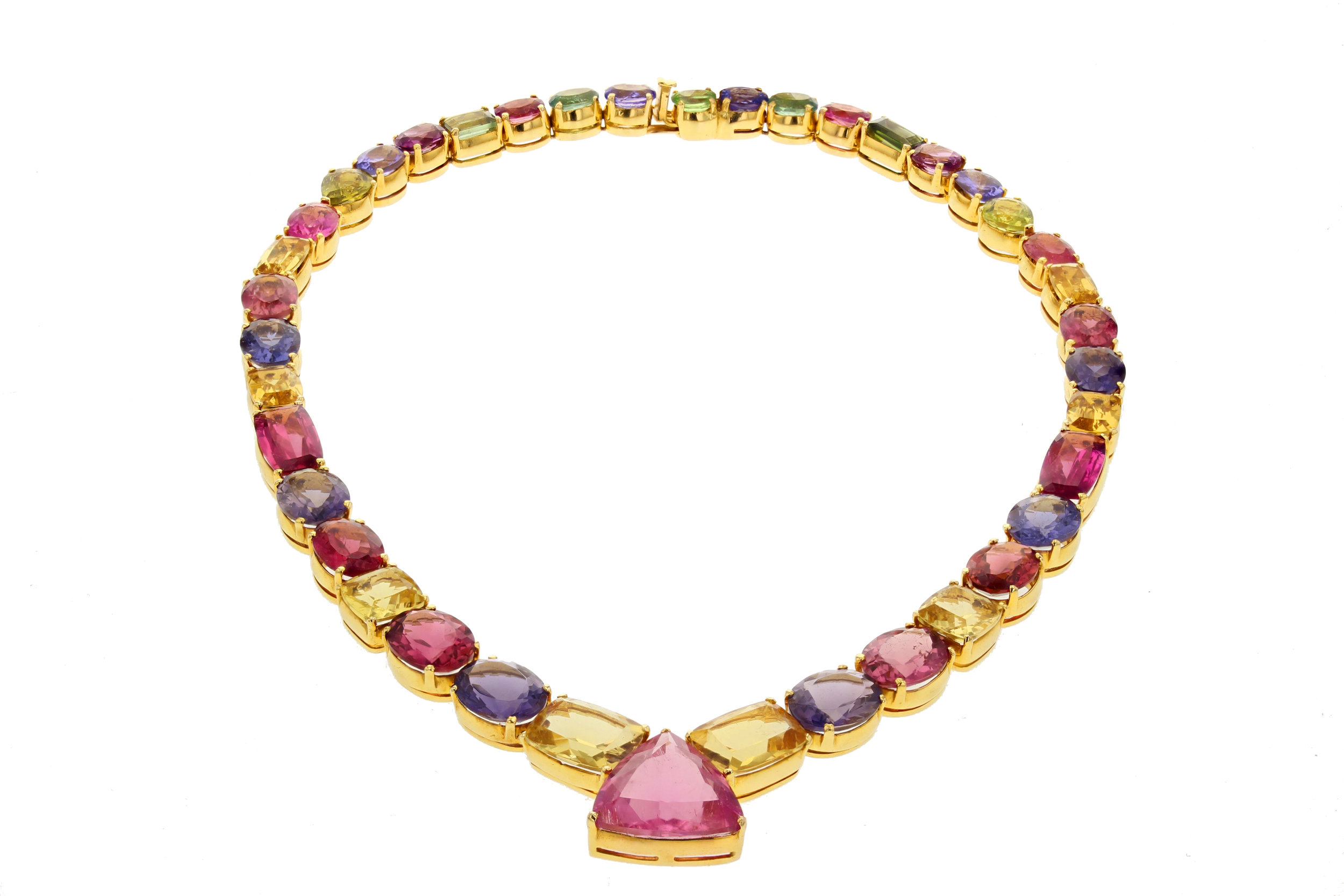 92 ctw. Tourmaline necklace. $16,875