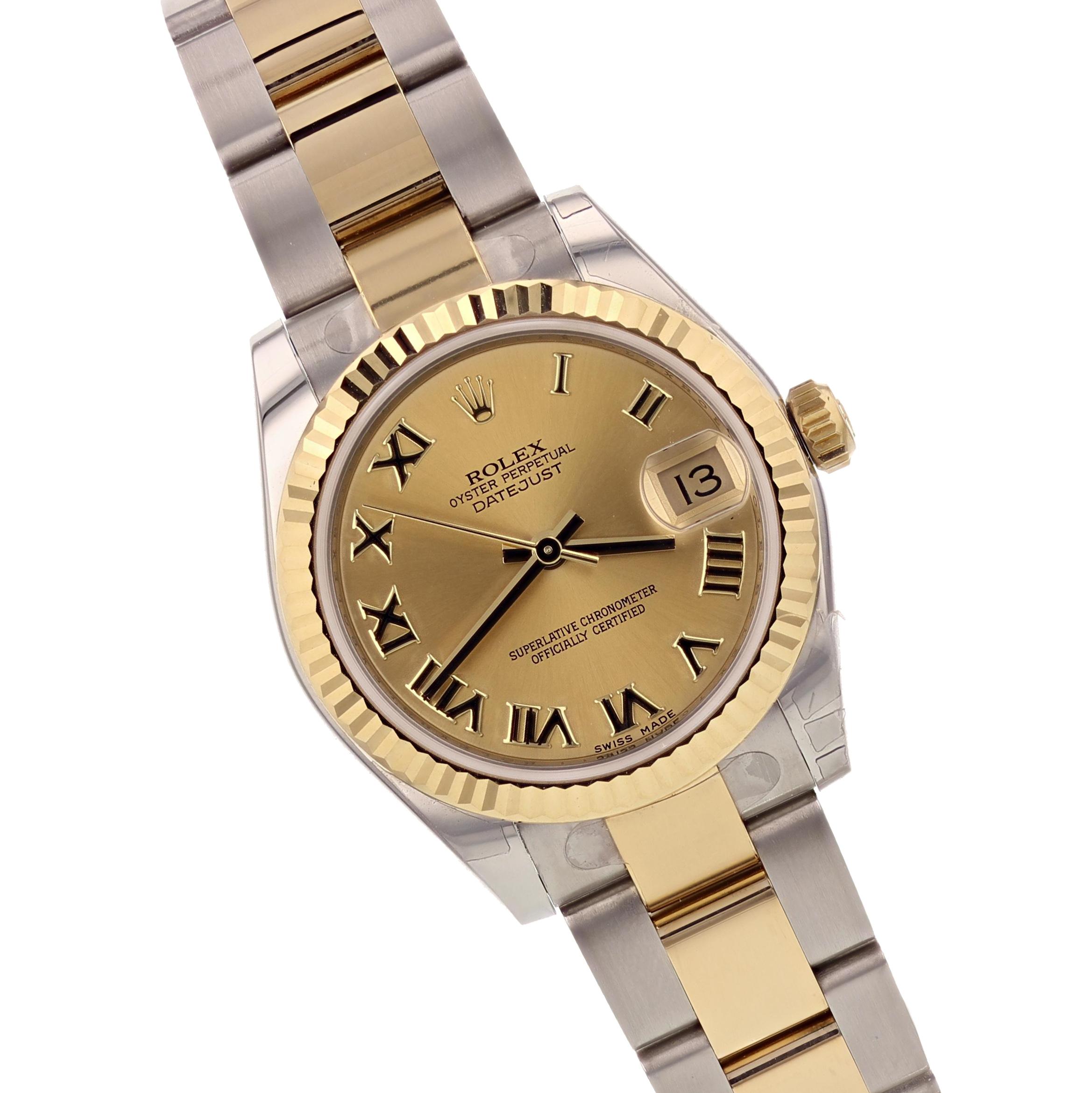 Rolex Ladies 18K Yellow Gold/SS Datejust