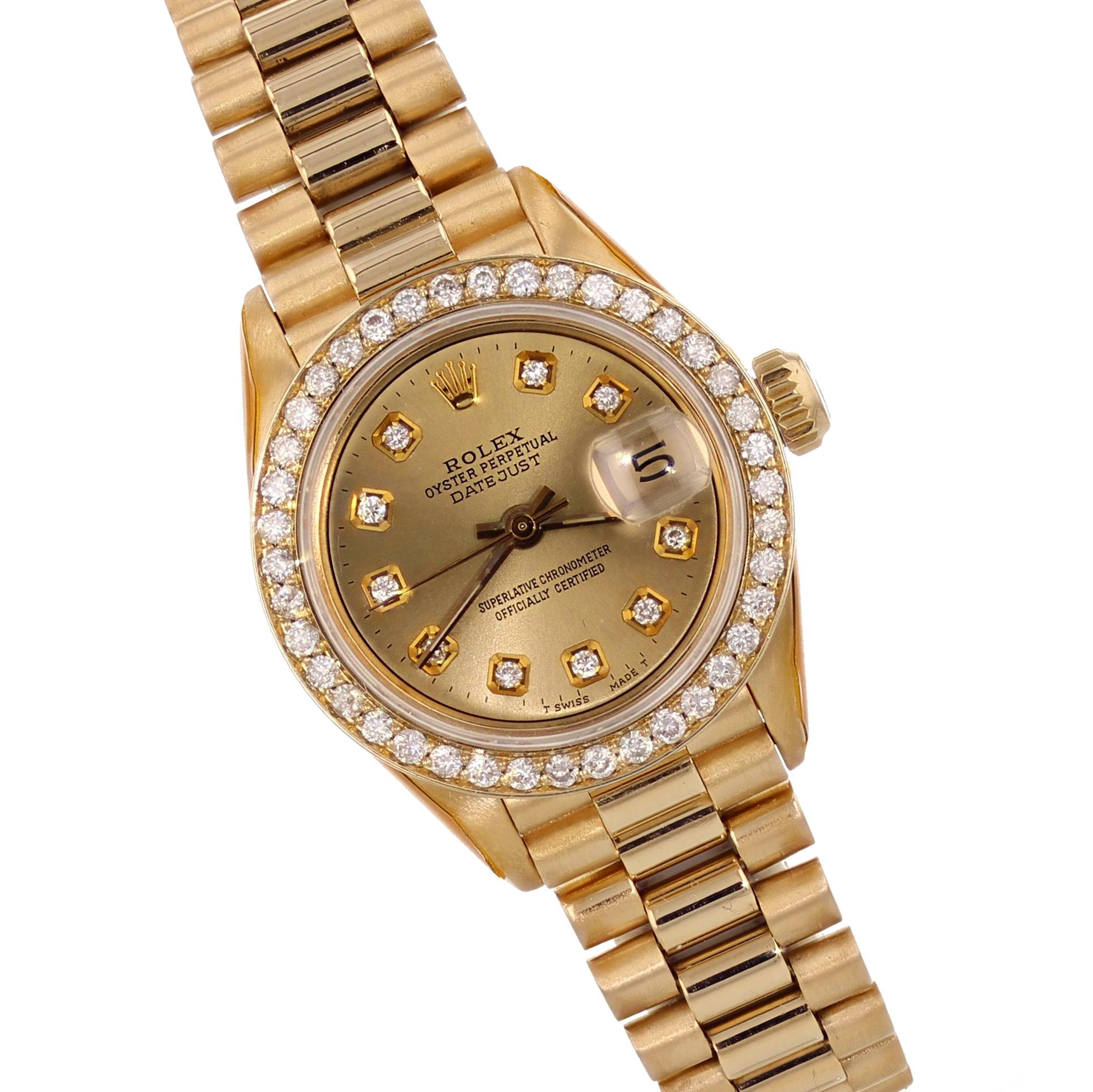 Rolex Ladies 18K Yellow Gold Presidential