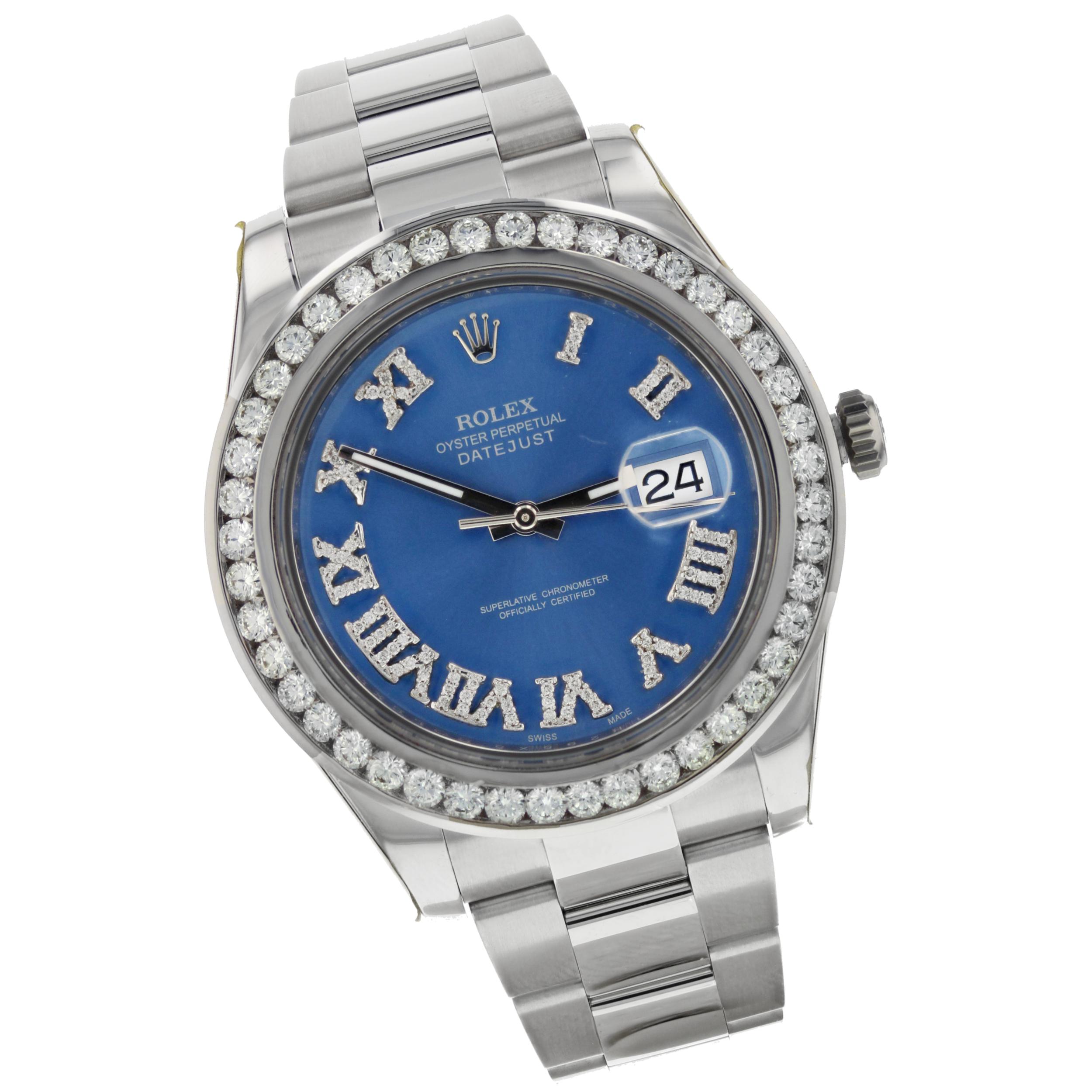 Rolex 18K White Gold/SS Datejust II