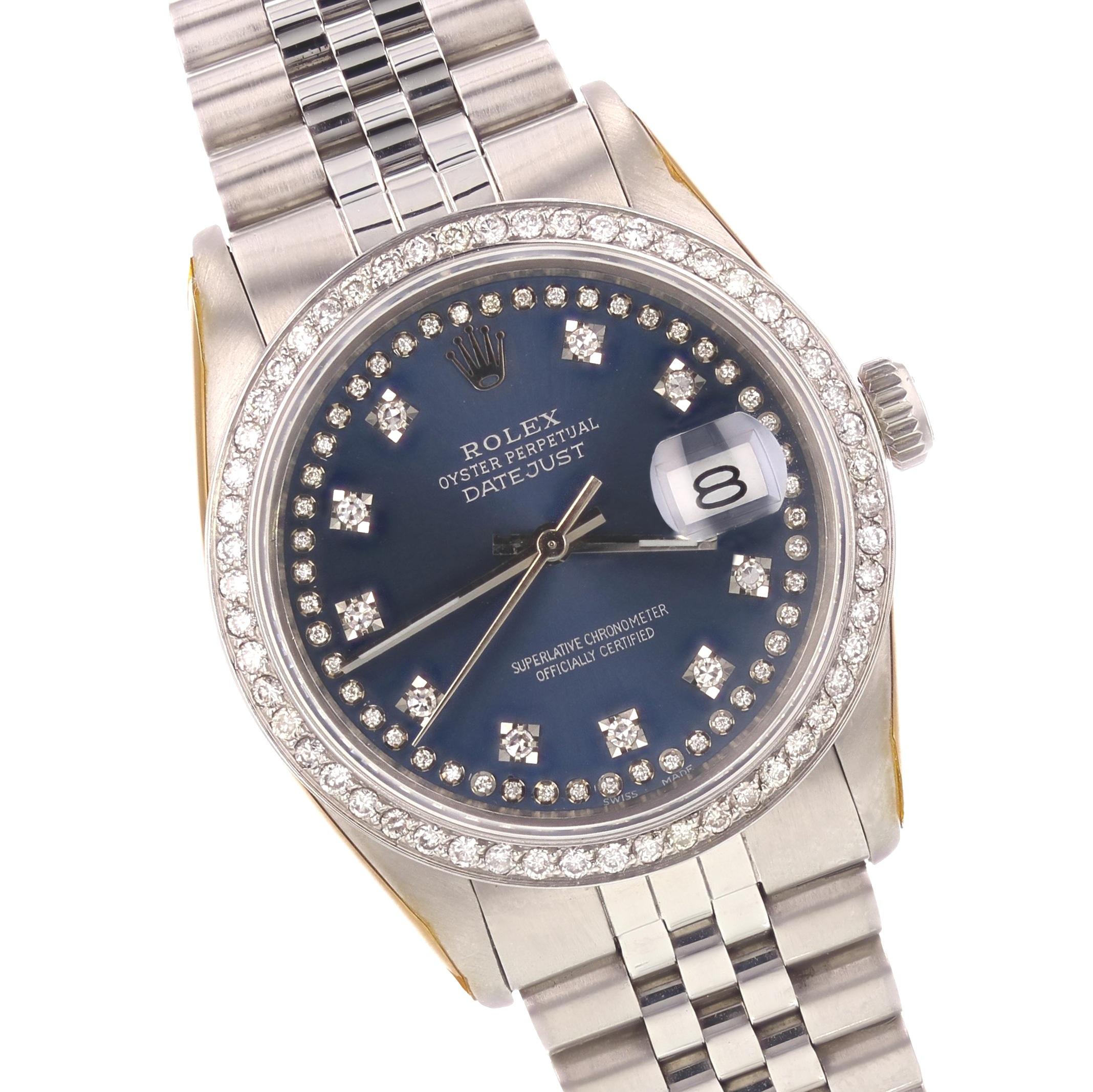 Rolex 18K White Gold/SS Datejust