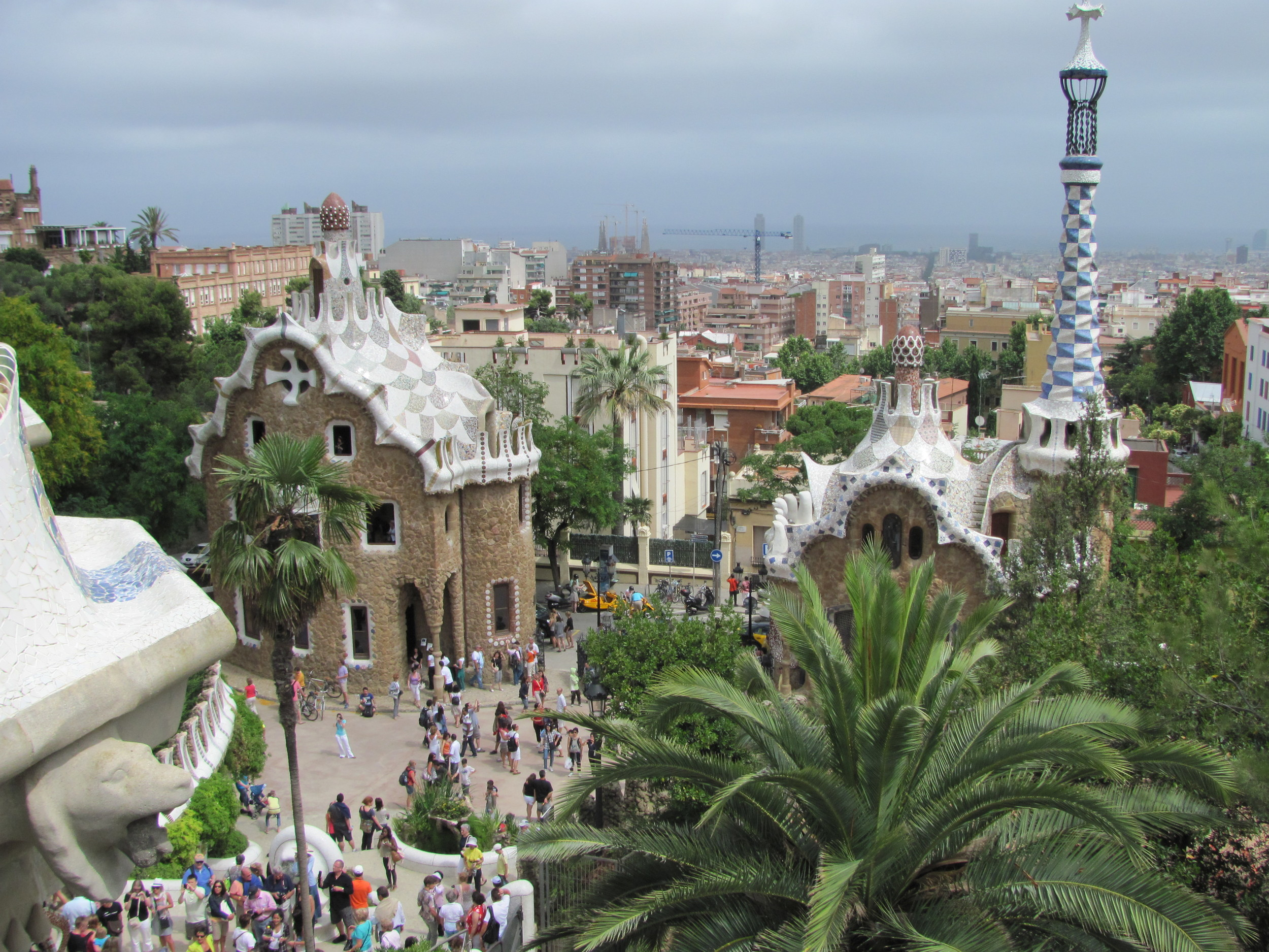 Park Güell  is like stepping into a Hans Christian Anderson story..with Gaudi's quirky architecture and the use of broken tiles creating the most stunning mosaic patterns and sculpture..a visit is a must - even though it is extremely popular..