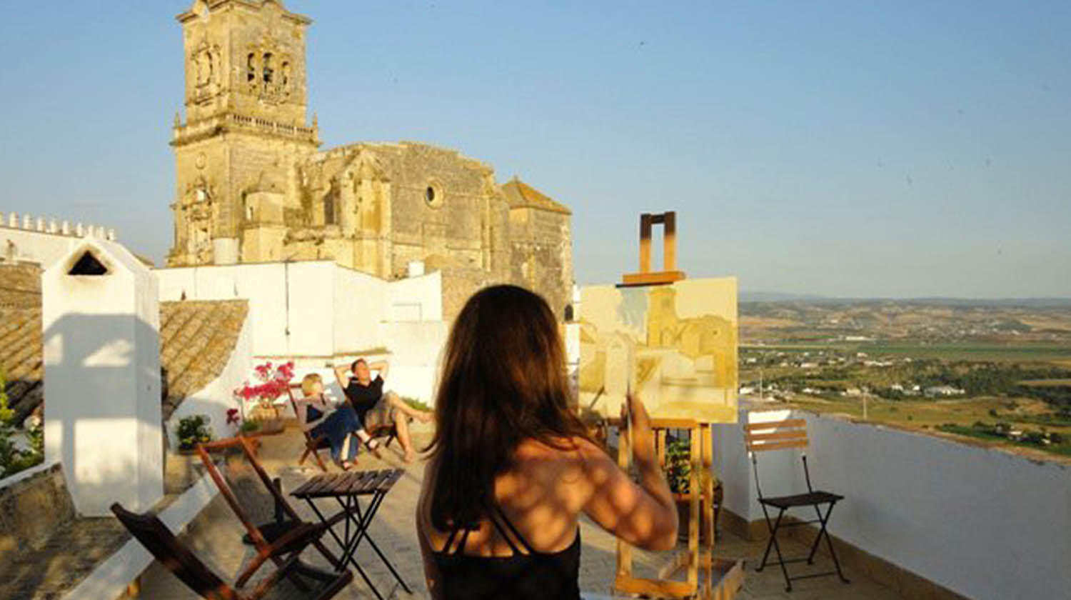 Alex Painting in Arcos