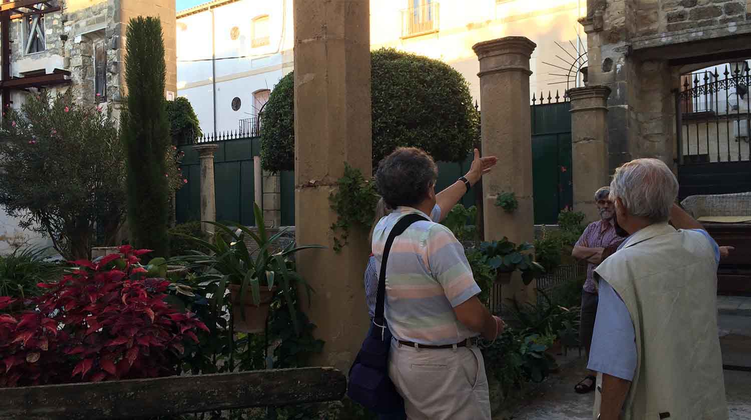 In the garden of the Renaissance Palace in Ubeda