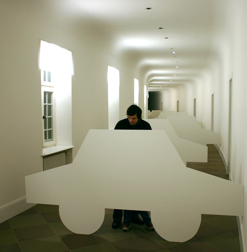 """""""Dream of Bucharest"""" 2006,installation, mixed media dimensions variable"""